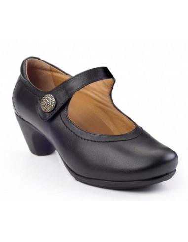Calzado señora con tacón y piso de goma Daimar