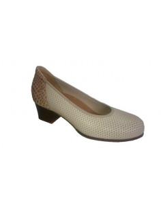 Zapato señora con pala elástica y tacón