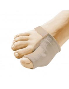 Protector de juanete con tejido recubierto en gel