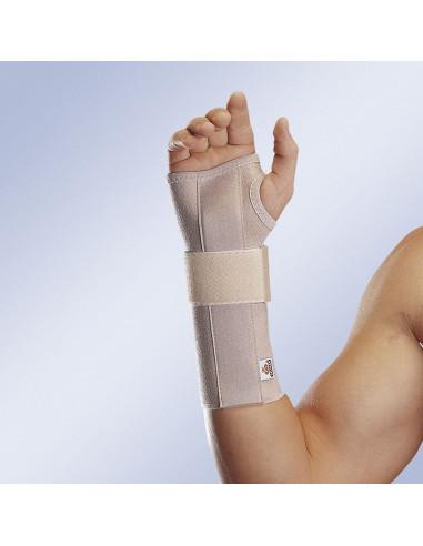 Munequera elastica abierta larga con ferula