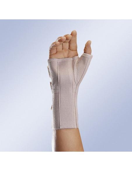 Munequera elastica abierta larga con ferula palmar y pulgar