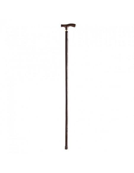 Bastón clásico madera empuñadura en T MOVIALE P252