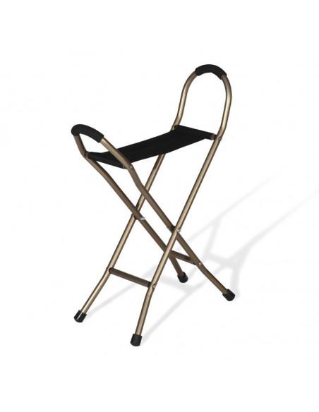 Bastón con asiento cuatro patas de Ayudas dinámicas
