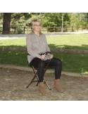 Baston con asiento cuatro patas de Ayudas dinamicas