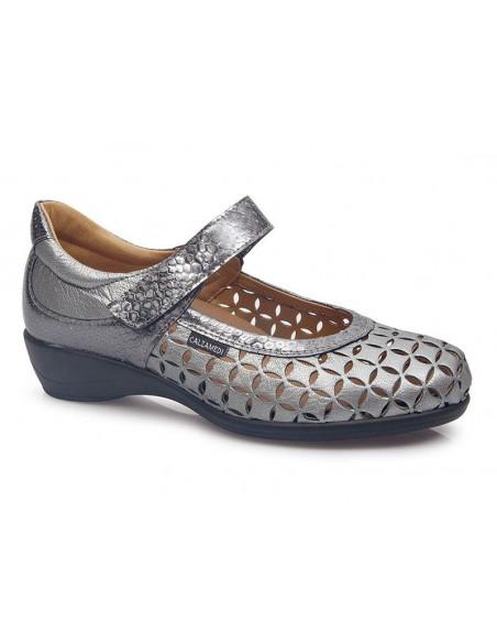 Zapato de mujer con plantilla extraíble y velcros de Calzamedi