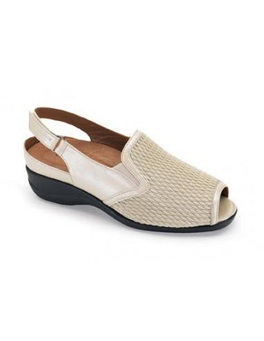 Zapato para senora con pala elastica y plantilla extraible de Calzamedi