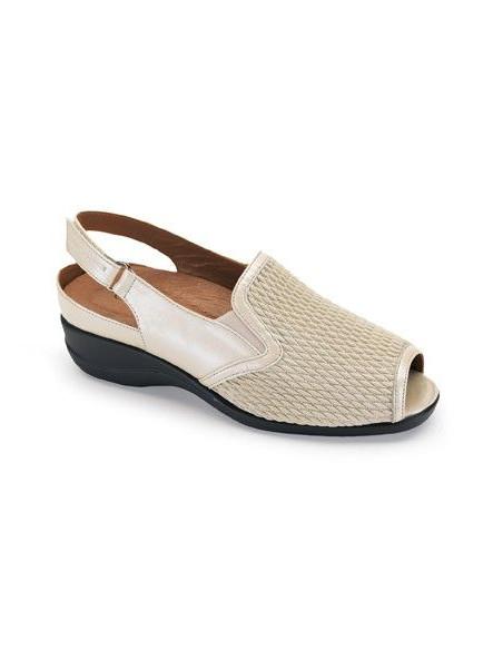 Zapato para señora con pala elástica y plantilla extraíble de Calzamedi