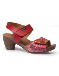 Sandalia de mujer muy ligera con velcro de Calzamedi