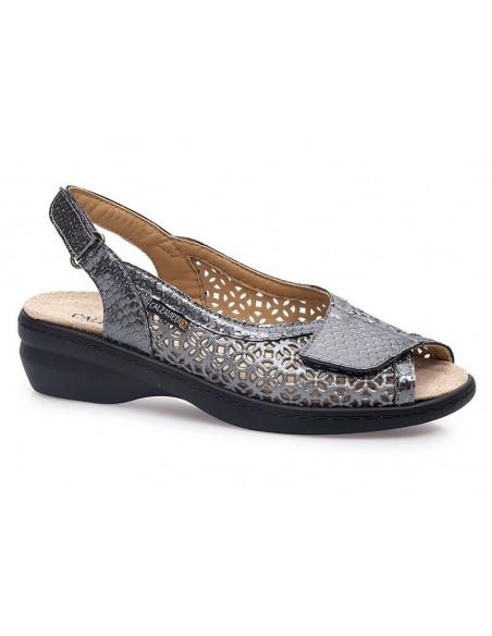 Sandalia de vestir con plantilla extraíble y velcros de Calzamedi