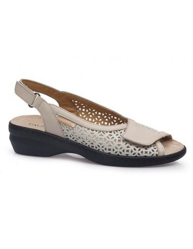 Sandalia de vestir con plantilla extraible y velcros de Calzamedi