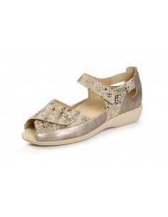 Sandalia de vestir con velcro Metalizado de Daimar