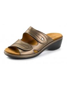 Sandalia ligera con velcros Bronce de Daimar