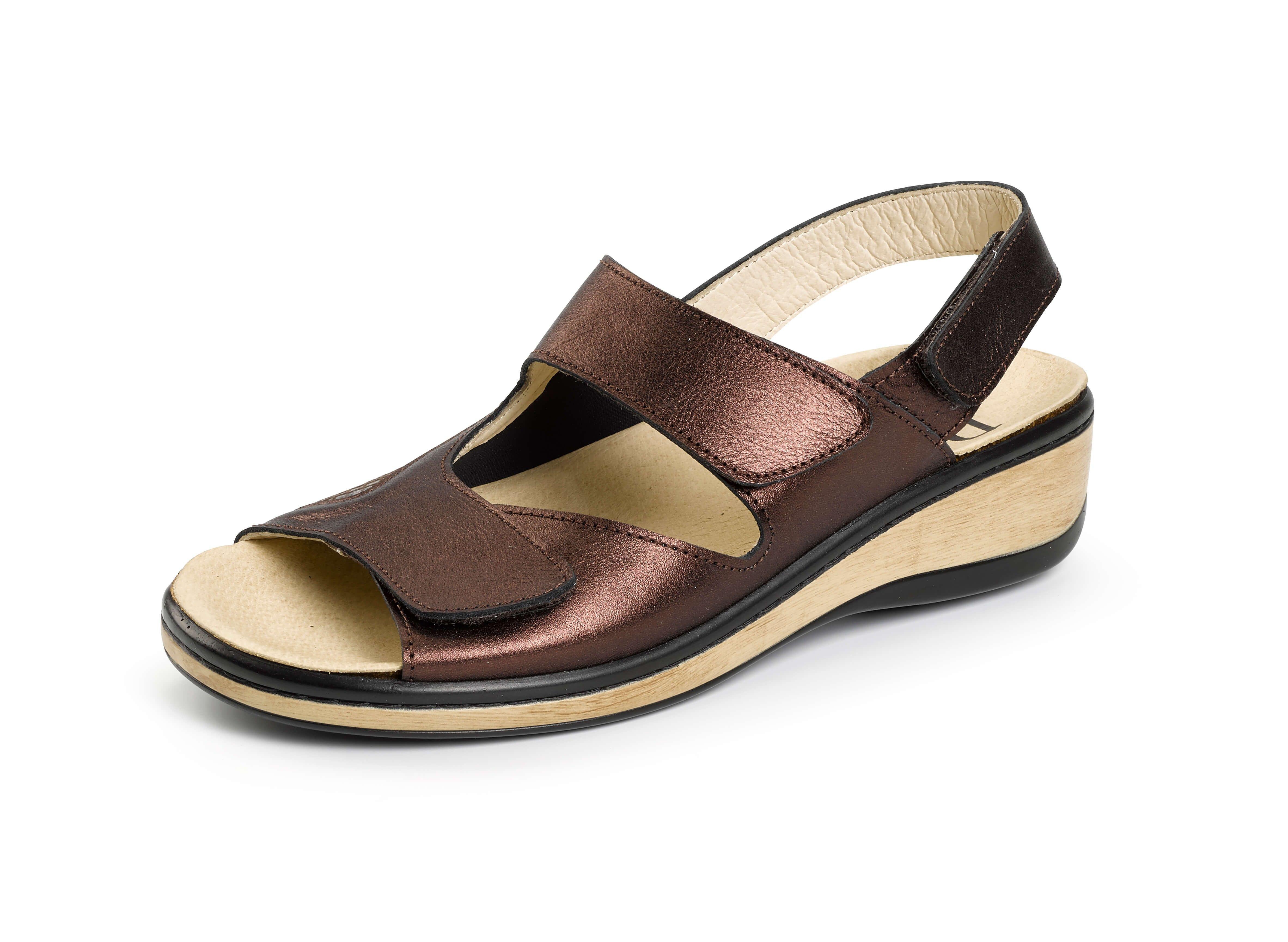 Especial Sandalia Con Bronce De Daimar Juanetes Velcro zpjqUGLSMV
