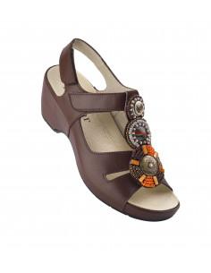 Sandalia de vestir con tacon Azteca