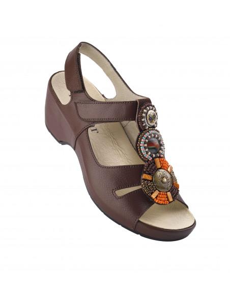 Sandalia de vestir con tacón Azteca
