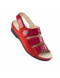 Sandalia con plantilla extraible en Rojo de Daimar