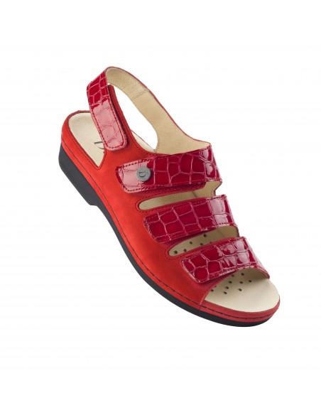 Sandalia con plantilla extraíble en Rojo de Daimar