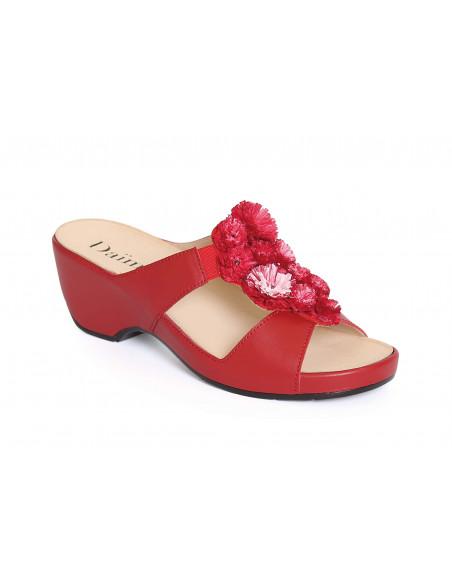 Sandalia de vestir con plantilla extraíble Roja de Daimar