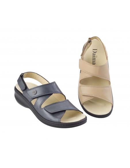 Sandalia con piso cosido y plantilla extraíble de Daimar