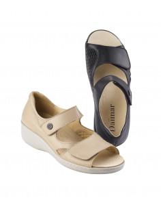 Sandalia ligera para pies anchos especial juanetes de Daimar