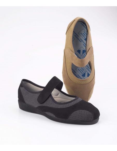 Zapatilla confort picado elástico y plantilla extraíble de Daimar
