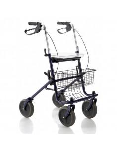 Andador Rollator de 4 ruedas con bandeja y cesta
