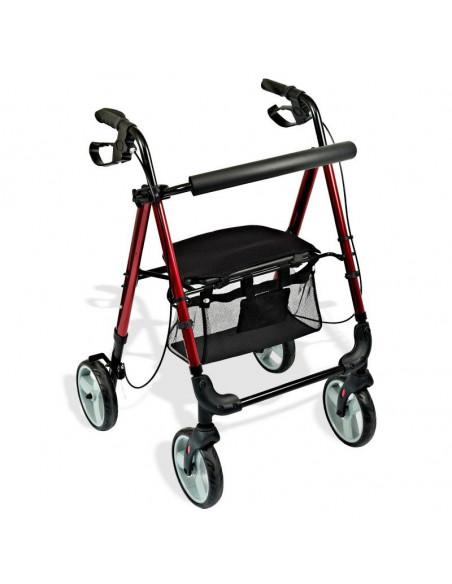 Andador con ruedas asiento regulable en altura HI-LOW