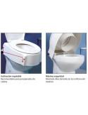Elevador de WC ajustable en altura con reposabrazos
