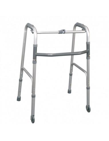 Andador plegable con 2 ruedas