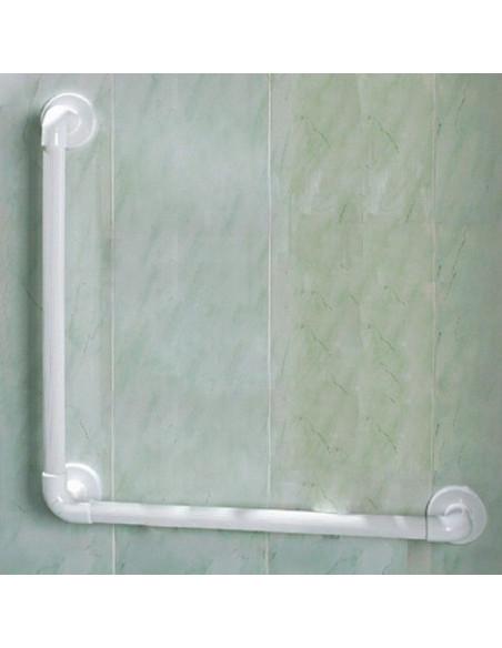 Asidera estriada para baño de plástico con ángulo de 90