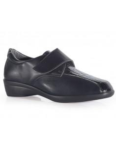 Zapato senora con cierre regulable y plantilla extraible