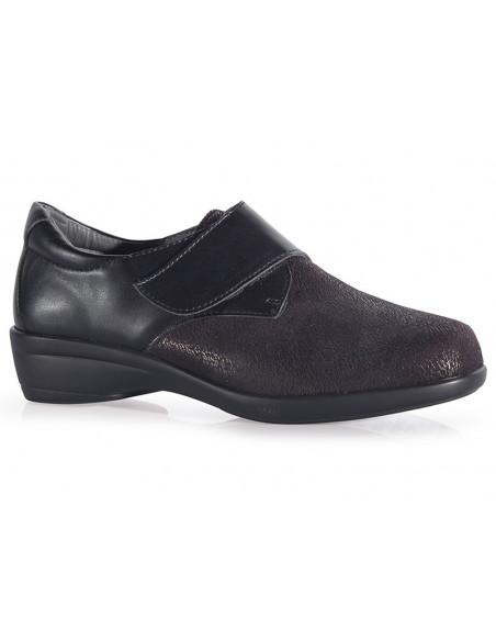Zapato señora elástico con cierre regulable
