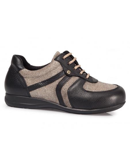 Zapatos diabetico senora con cordones de Calzamedi