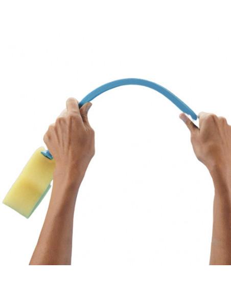 Esponja de ducha con mango flexible