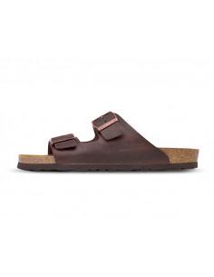 Sandalia hombre marrón