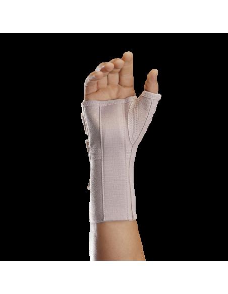 Munequera elastica abierta larga con ferula palmar y pulgar 2
