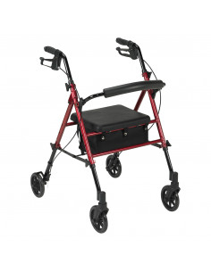 Andador con ruedas asiento regulable en altura HI-LOW 3