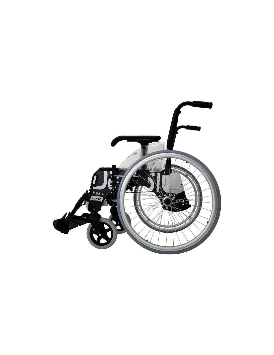 Silla de ruedas de aluminio forta basic - Tamano silla de ruedas ...