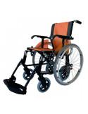 Silla de ruedas de aluminio LIne duo naranja