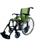 Silla de ruedas de aluminio LIne duo verde