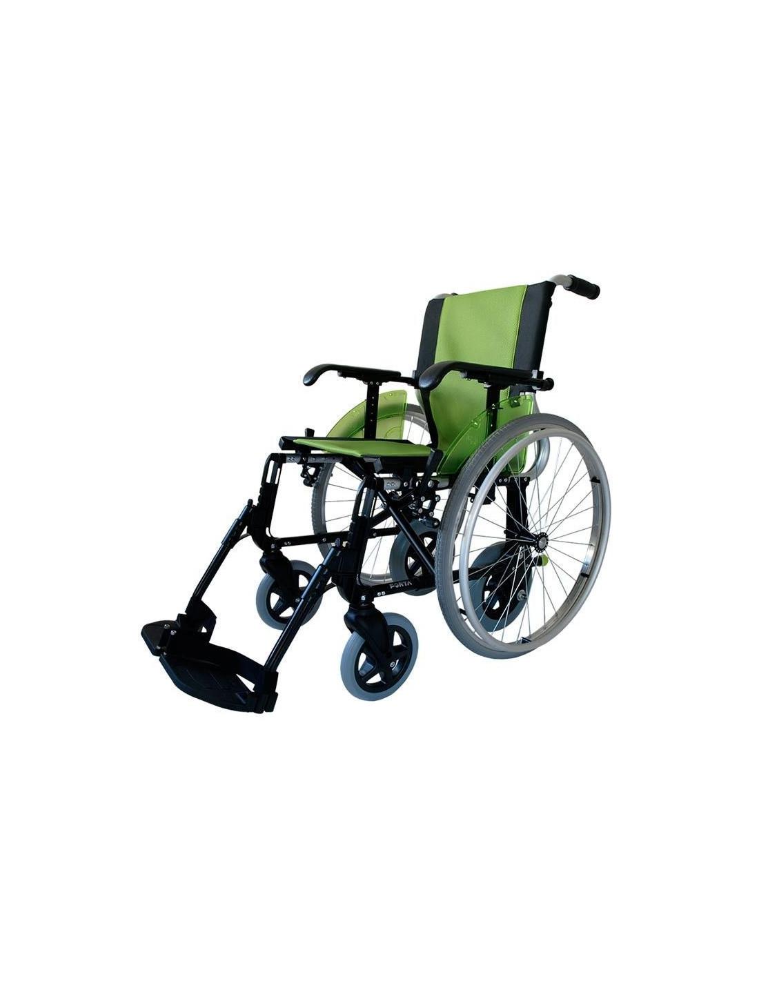 silla de ruedas verde