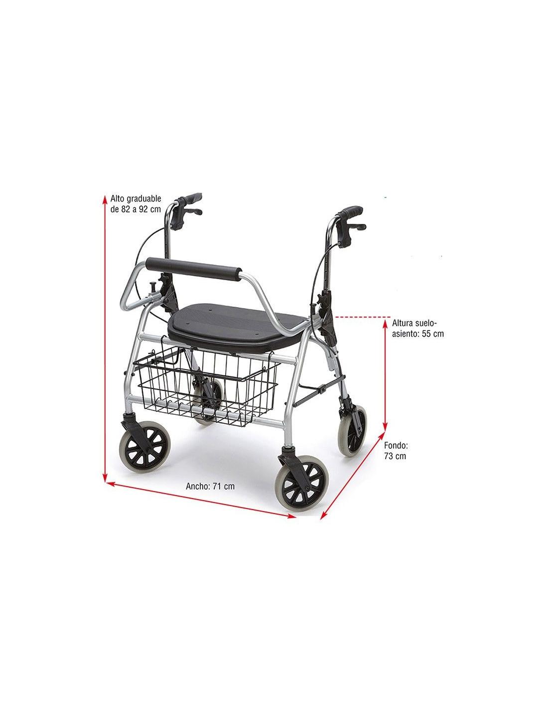 Andador con ruedas y frenos MAXI L