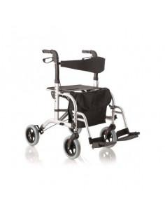 Andador con 4 ruedas doble función