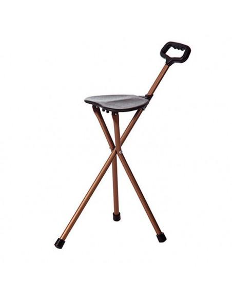 Bastón con asiento plegable de 3 patas
