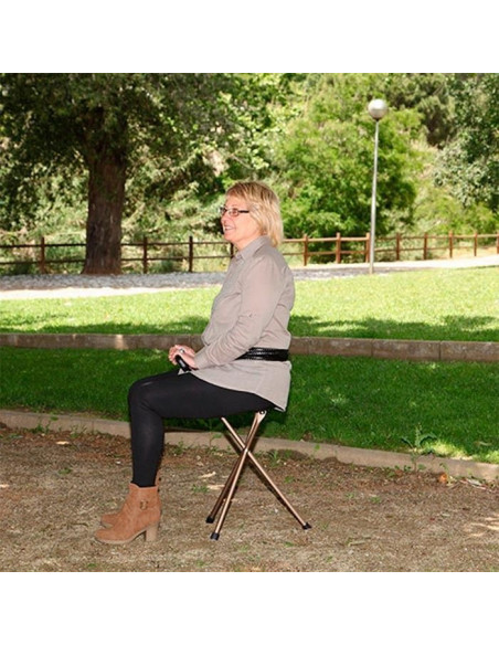 Bastón con asiento plegable  2