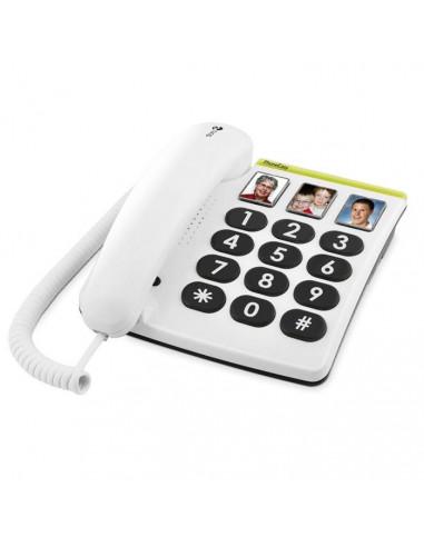 Teléfono con teclas grandes y botones fotográficos