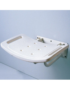 Asiento de ducha de pared abatible