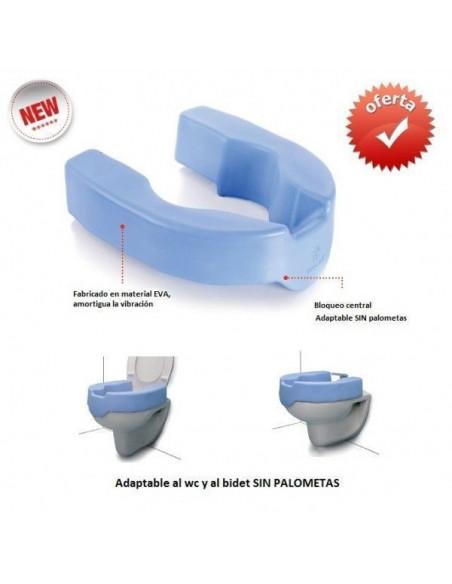 Elevador de wc y bidet blando 10 cm