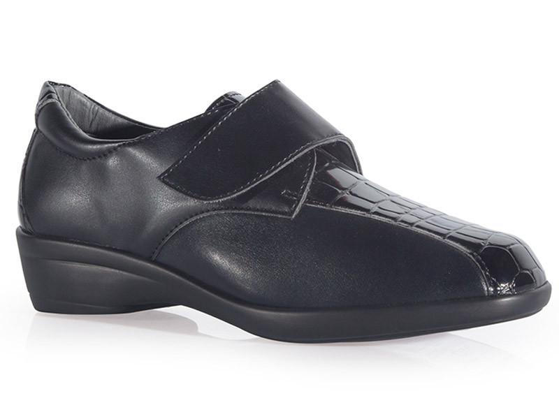 Zapato señora con cierre regulable y plantilla extraíble